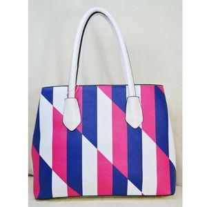 Handbags - Geometric Print Handbag